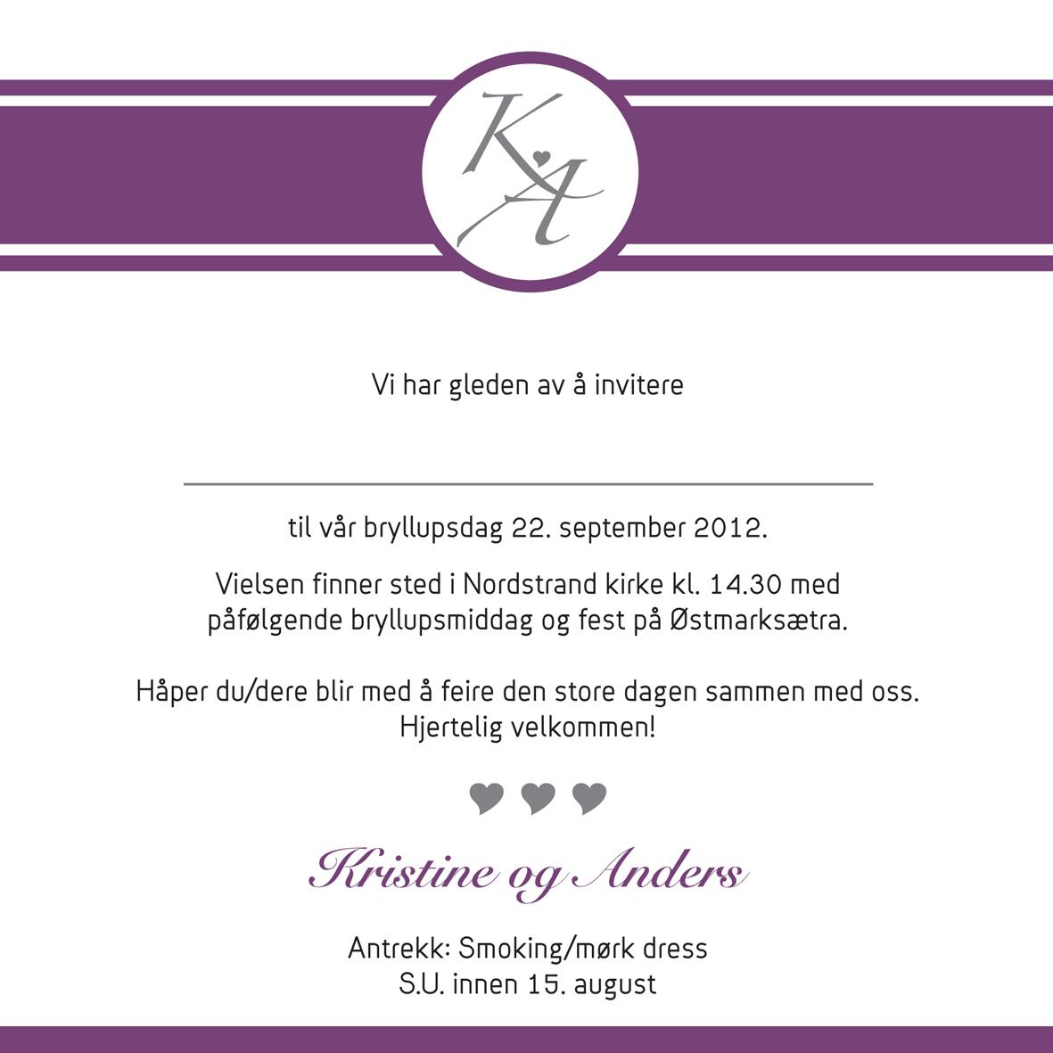 b76aad87 Invitasjon – bryllup – Portfolio